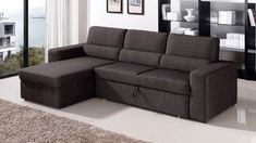 Black/Brown Clubber Sleeper Sectional Sofa - Left Chaise Zuri Furniture http://www.amazon.com/dp/B00DZC7E54/ref=cm_sw_r_pi_dp_eIicwb02R0XS8
