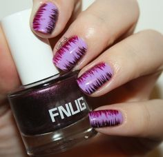 #WeekendOffNailArtChallenge - Purple Stripes nail art #purple #stripes #fnug #essie