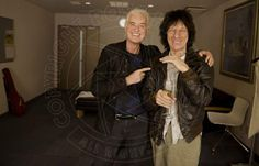 Another great pic of Jimmy Page and Jeff Beck, Tokyo, April 2014. Photo: Ross Halfin