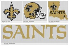 New Orleans Saints Crochet Graphs Patterns - Yahoo Image Search Results
