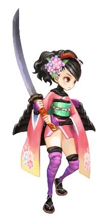 Muramasa: The Demon Blade Momohime ✧ #characterconcepts ✧ I like the half chibi look of this, and her proportions are fun