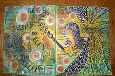 My Art Journal - Selfie for Artful Journey