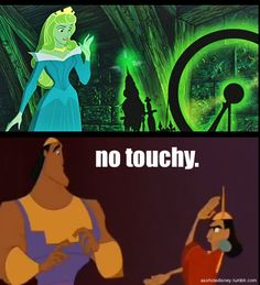 If only Kuzco was there to stop her- can you imagine Kuzco running in and just going, no touchy to Aurora? hahaha