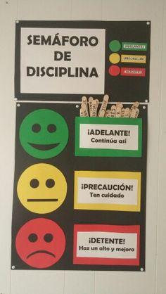 Semáforo de disciplina utilizado para autoevaluación de conducta.