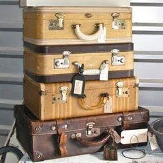 vintage luggage . . .