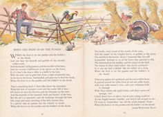 When the Frost Is On The Punkin James Whitcomb Riley The best fall poem ever! I memorized this when I was a kid