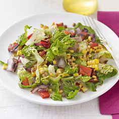 Backyard BBQ Ideas: Chopped Salad with Roasted Corn Relish Recipe, for mikes?