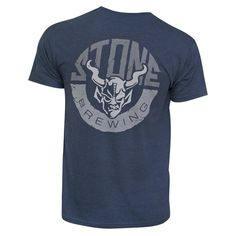 Stone Brewing Co. Horns Cotton-blended T-shirt, Men's