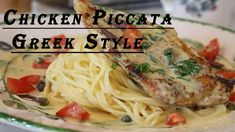 Greek Style Chicken Piccata (Avgolemono) Greek Style Chicken, Chicken Carbonara Recipe, Food Dishes, Dishes Recipes, Chicken Piccata, Pasta, Mediterranean Dishes, White Meat, Cooking Videos
