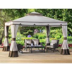 Outdoor Patio Gazebo Canopy Garden Furniture 10 x 12 Ft Pool Back Yard Barbecue