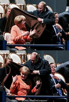 Merkel and Putin the gentleman