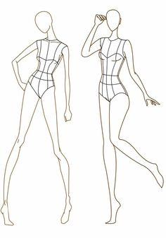 Fashion Illustration Poses, Fashion Illustration Template, Fashion Sketch Template, Fashion Figure Templates, Fashion Design Template, Dress Design Drawing, Dress Design Sketches, Fashion Design Sketchbook, Fashion Design Drawings