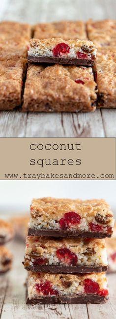 Coconut Ice Recipe, Coconut Tart, Coconut Recipes, Coconut Flour, Tray Bake Recipes, Baking Recipes, Cake Recipes, Flour Recipes, Tea Recipes