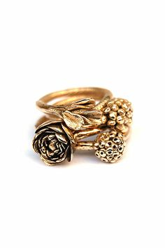 Malou Paul Jewellery Design - Floral Stories, rings,2012, Fairtrade and Fairmined 14krt gold