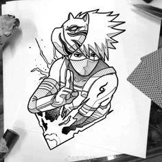 Manga Tattoo, Anime Tattoos, Tatoos, Fan Art Naruto, Anime Naruto, Manga Anime, Naruto Shippuden Sasuke, Itachi Uchiha, Kakashi Tattoo