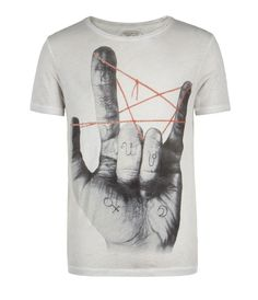 Horns Cut Collar T-shirt, Men, Graphic T-Shirts, AllSaints Spitalfields