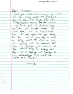 We love receiving thank you letters from the students!