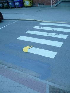 Packman hit again!Street Art