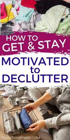Clutter Organization, Home Organization Hacks, Storage Hacks, Hoarding Help, Declutter House, Organizing For A Move, Cleaning Crew, Clutter Solutions, Stay Motivated