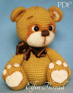 Hilo de Elfin Teddy Bear Amigurumi PDF patrón oso por ElfinThread