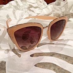 Peach! Beautiful sunglasses in 3 colors! Black- tortoise shell and peach/blush! So chic! Accessories Sunglasses