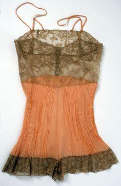 1920s lingerie with crepe pleats
