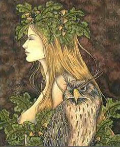 celtic goddess blodeuedd | Blodeuwedd is a Goddess originating in Wales. If she has come into ...