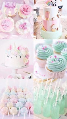 Really cute unicorn and pastel coloured theme