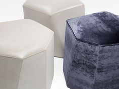 Vrille Ottomans for HOLLY HUNT