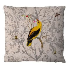 Golden Oriole cushion from Timorous Beasties