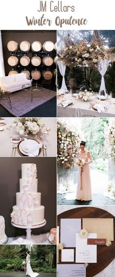 JM Cellars Winter Opulence Wedding Inspiration | B&E Lucky in Love Blog