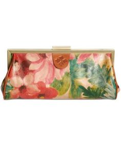 Patricia Nash Athena Frame Clutch $149.00 Rich and brilliant florals on luxe Italian leather add a splash of fabulous color to this classic metal frame clutch from Patricia Nash. Designed to stash your evening essentials, it features a distinctive clasp and optional chain-link strap.