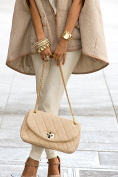 Beige love cape and purse ( keep under $125 ) pants ok if contain spanex , no below waist , tends to give me mushroom