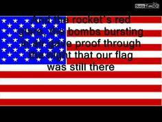 USA National Anthem (lyrics) Star Spangled Banner