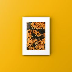 Spring Collection, Yellow Flowers, Printable Art, Flower Art, Minimalism, Poster, Backgrounds, Etsy, Wall Art
