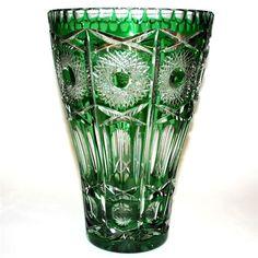 Green Crystal Vase #1