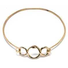 Ouroboros Choker in brass