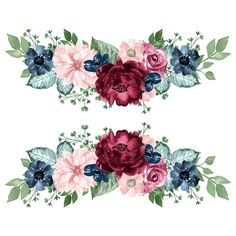 Flower Backgrounds, Wallpaper Backgrounds, Wallpapers, Flower Frame, Flower Art, Watercolor Flowers, Watercolor Art, Molduras Vintage, Apple Watch Wallpaper