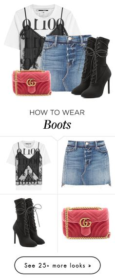 """""""street style"""" by alexa-girl2 on Polyvore featuring McQ by Alexander McQueen, Frame, Yeezy by Kanye West, Gucci and summer2017"""