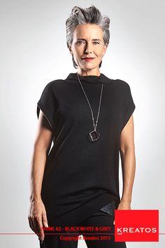 Kreatos kapsels voor vrouwen 2015 - Black White & Grey - haar kort grijs