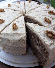 Orechová torta (bez múky), Torty, recept | Naničmama.sk Torte Cake, Czech Recipes, Desert Recipes, Amazing Cakes, Sweet Recipes, Yummy Treats, A Table, Food To Make, Sweet Tooth
