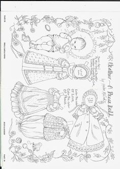 More black and white dolls 2 - Ulla Dahlstedt - Picasa Web Albums Paper Dolls Book, Vintage Paper Dolls, Paper Toys, Blue Crafts, Crafts To Do, Colouring Pages, Coloring Books, Paper Art, Paper Crafts