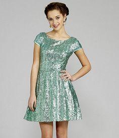 690e6a7f2 B Darlin CapSleeve Sequin Skater Dress(I got this dress for grade cotillion!