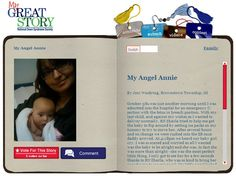 Check out the March 2013 My Great Story of the Month Contest winner My Angel Annie, by Joni Woodring, Brownston Township, MI. Share your story at ndss.org/stories!