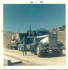 old+mack+trucks   Details about Vintage Old Color Photo 1966 Big MACK TRUCK Hauling a ...