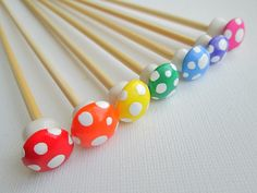 Toadstool+Knitting+Needles+Bamboo+Rainbow+by+DotDotSmile+on+Etsy,+$10.00