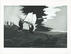 """Kara Walker, """"no world,"""" 2010, color etching, aquatint, sugarlift and spitbite aquatints, and drypoint on Hahnemühle Copperplate Bright White wove paper, National Gallery of Art, Washington, Donald and Nancy de Laski Fund"""