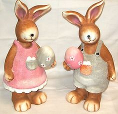 Large 45cm handpainted #easter #bunny rabbit garden home ornament #decoration,  View more on the LINK: 	http://www.zeppy.io/product/gb/2/281921987154/