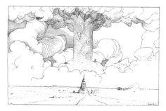 Drawings by Moebius.