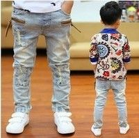 Department Name: Children Item Type: Jeans Fit Type: Straight is_customized: Yes Pattern Type: Solid